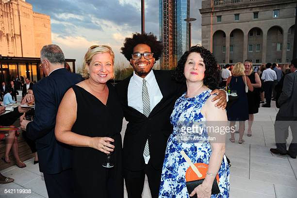 Katie Wagner Hakeem Lambert and Annie Dinerman attend VLA Summer Benefit 2016 at Sony Music on June 21 2016 in New York City