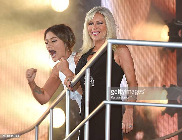Katie Waissel and Samantha Fox become the 6th and 7th housemates evicted from Celebrity Big Brother 2016 on August 23, 2016 in Borehamwood, United...