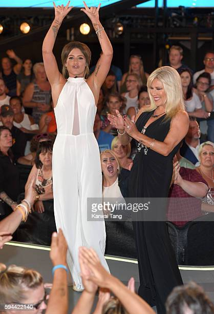 Katie Waissel and Samantha Fox become the 7th and 8th housemates evicted from Celebrity Big Brother 2016 on August 23, 2016 in Borehamwood, United...