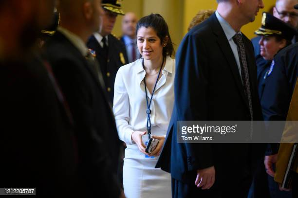 Katie Waldman press secretary for Vice President Mike Pence is seen in the Capitol during the Senate Policy luncheons in the Capitol on Tuesday...