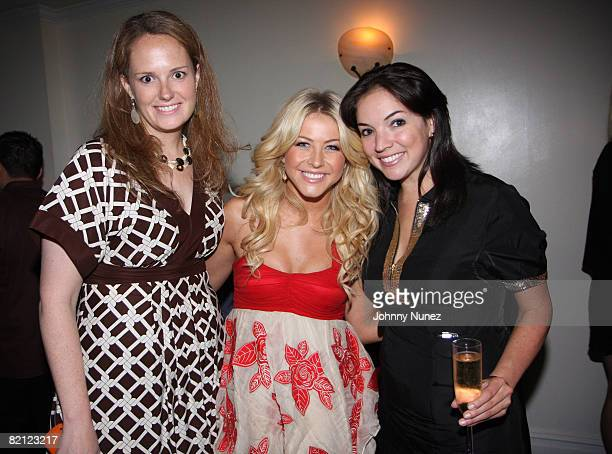 Katie Waller, Julianne Hough and Brooke Emerson attend an after performance dinner at Philip Chow's on July 29, 2008 in New York City.