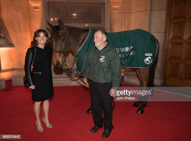 Katie Walsh attends The Randox Health Grand National Weights Evening with 2016 winner Rule The World at the Victoria Albert Museum on February 14...