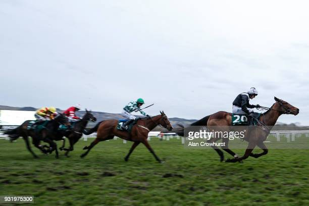 Katie Walsh riding Relegate win The Weatherbys Champion Bumper at Cheltenham racecourse on Ladies Day on March 14 2018 in Cheltenham England