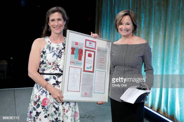 Katie Watkin and Maggie Lear attend the Bottomless Closet's 19th Annual Spring Luncheon on May 16 2018 in New York City