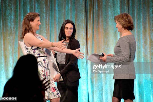 Katie Watkin and Maggie Lear speak on stage at the Bottomless Closet's 19th Annual Spring Luncheon on May 16 2018 in New York City