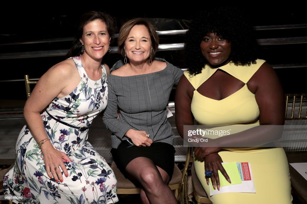 Katie Watkin, Maggie Lear and Danielle Brooks attend the Bottomless Closet's 19th Annual Spring Luncheon on May 16, 2018 in New York City.