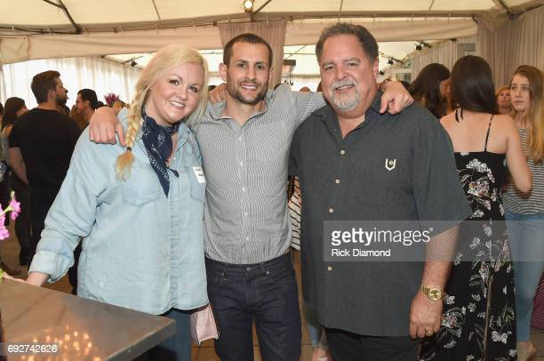 Katie Weaver Aaron Tannenbaum and Tony Conway attend the 25th Annual CAA BBQ in Nashville at CAA Nashville on June 5 2017 in Nashville Tennessee