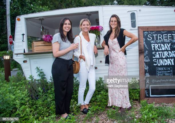 Katie Winter McCall Miles and Max Bonrest attend Homepolish x Hamptons Magazine VIP Dinner With James Peyton at Salt Drift Farm on June 22 2018 in...