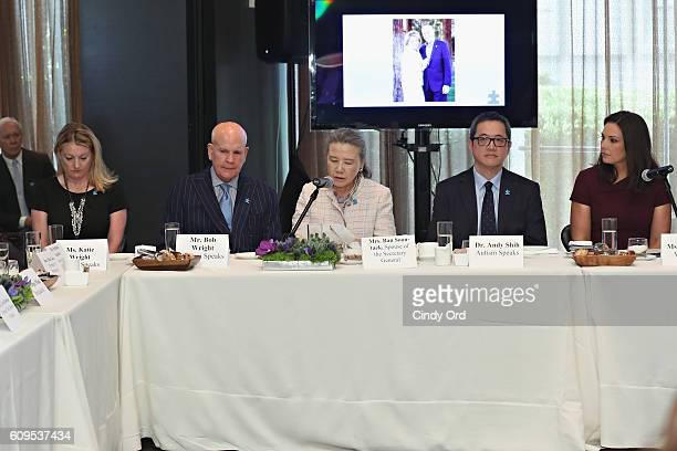 Katie Wright CoFounder of Autism Speaks Bob Wright spouse of UN Secretary General Ban Kimoon Ban Soontaek Senior Vice President Autism Speaks Dr Andy...