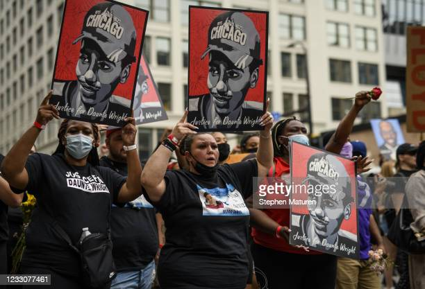 Katie Wright , mother of Daunte Wright, marches with people honoring George Floyd on May 23, 2021 in Minneapolis, Minnesota. The National Action...