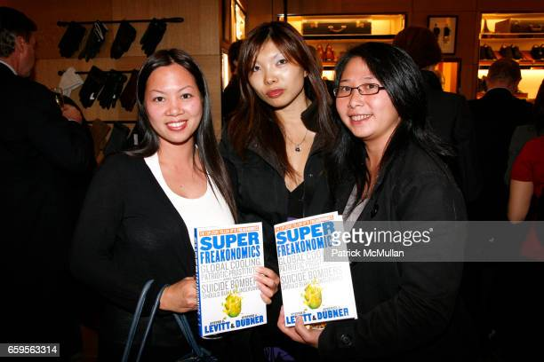 Katie Wu Sandy Keng and Lynn Huynh attend ALFRED DUNHILL and THE WALL STREET JOURNAL host a book signing for SUPERFREAKONOMICS at Dunhill London on...