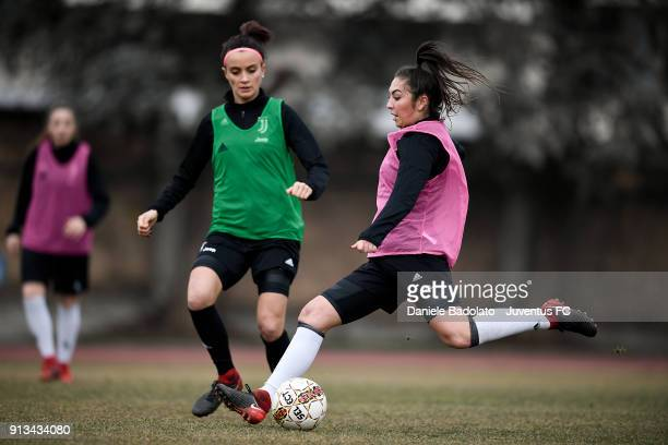Katie Zelem during a Juventus Women training session on February 2 2018 in Turin Italy