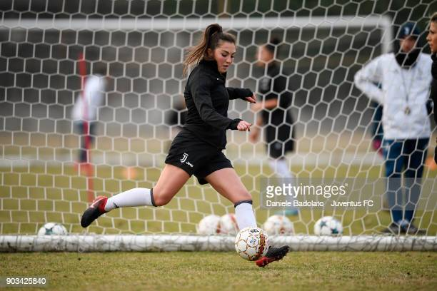 Katie Zelem during a Juventus Women training session on January 10 2018 in Turin Italy