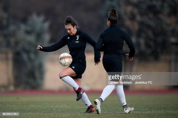 Katie Zelem during a Juventus Women training session on January 11 2018 in Turin Italy