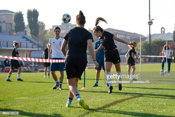 Katie Zelem during a Juventus Women training session on October 12 2017 in Turin Italy