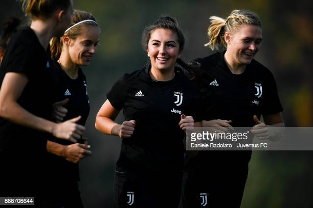Katie Zelem during a Juventus Women training session on October 26 2017 in Turin Italy