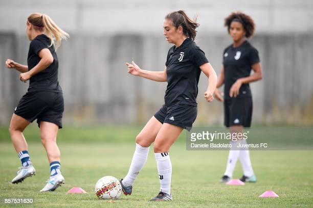 Katie Zelem during a Juventus Women training session on October 4 2017 in Turin Italy