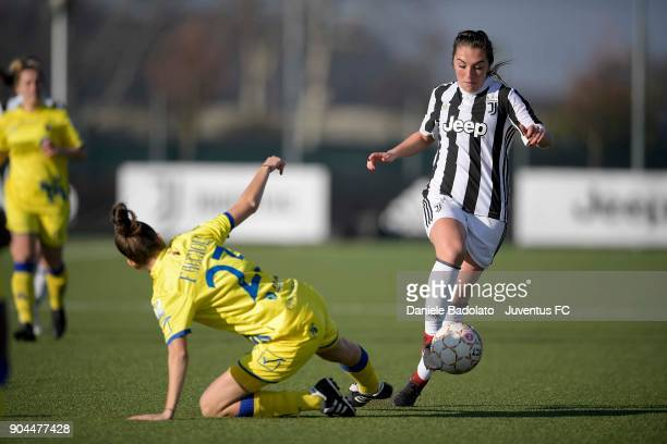 Katie Zelem during the Women's Serie A match between Juventus Women and Fimauto Valpolicella at Juventus Center Vinovo on January 13 2018 in Vinovo...