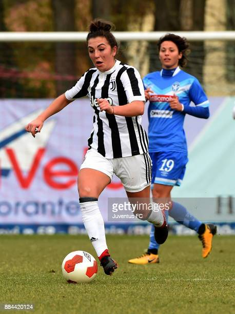 Katie Zelem of Juventus in action during the Women's Serie A match Brescia v Juventus on December 2 2017 in Brescia Italy