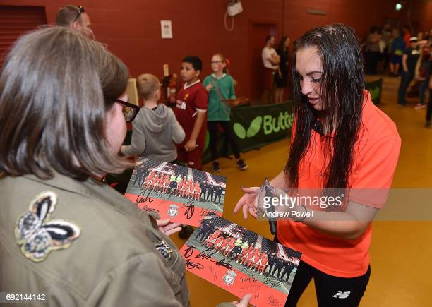 Katie Zelem of Liverpool Ladies during a signing session after the WSL 1 match between Liverpool Ladies and Manchester City Women at Select Security...