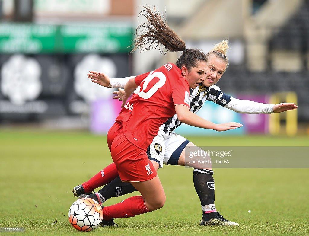 WSL 1: Notts County Ladies FC v Liverpool Ladies FC : News Photo