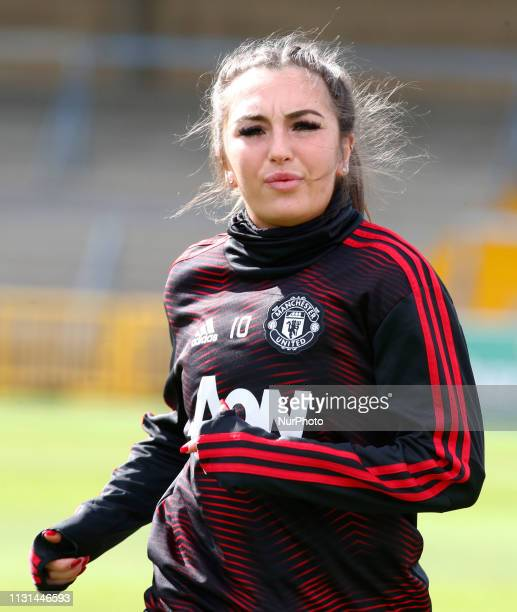 Katie Zelem of Manchester United Women during The SSE Womens FA Cup Quarter Final match between Reading FC Women and Manchester United Women at Adams...