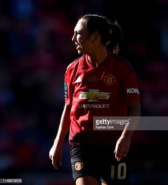 Katie Zelem of Manchester United Women looks on during the Women's Super League match between Manchester United Women and Lewes Women at Leigh Sports...