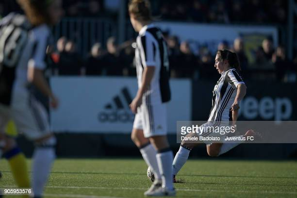 Katie Zelem scores 20 goal during the Juventus Women v Valpolicella Chievo Verona Women match at Juventus Center Vinovo on January 13 2018 in Vinovo...