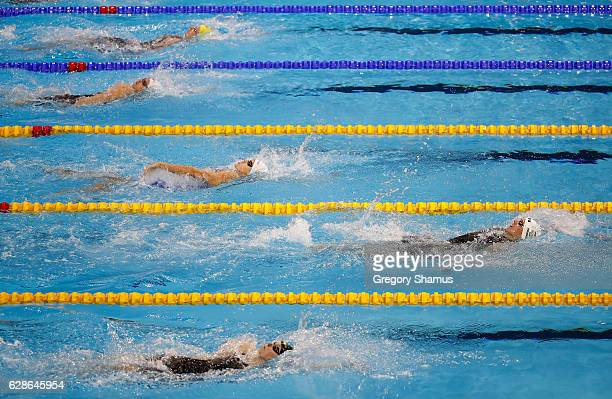 Katinka Hosszu of Germany leads the way during the 200m Backstroke final on day three of the 13th FINA World Swimming Championships at the WFCU...