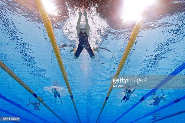 Katinka Hosszu of Hungary competes in heat five of the Women's 400m Individual Medley on Day 1 of the Rio 2016 Olympic Games at the Olympic Aquatics...