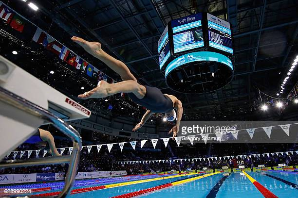 Katinka Hosszu of Hungary competes in the 200m Individual Medley final on day five of the 13th FINA World Swimming Championships at the WFCU Centre...
