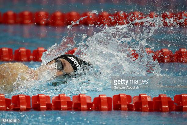 Katinka Hosszu of Hungary competes in the women's 200m Freestyle heat during the FINA Swimming World Cup at OCBC Aquatic Centre on November 19 2017...