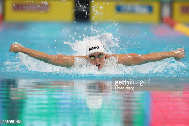 Katinka Hosszu of Hungary competes in the Women's 200m Medley final on day three of the 2019 FINA Swimming World Cup at Jinan Olympic Sports Centre...