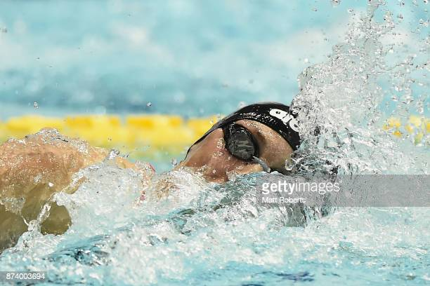 Katinka Hosszu of Hungary competes in the Women's 400m Individual Medley final during day one of the FINA Swimming World Cup at Tokyo Tatsumi...