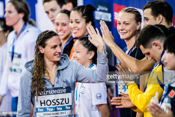 Katinka Hosszu of Hungary during the FINA Swimming World Cup Women's 100m Backstroke on October 01 2017 in Hong Kong Hong Kong