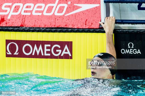 Katinka Hosszu of Hungary during the FINA Swimming World Cup Women's 100m Individual Medley Final on October 01 2017 in Hong Kong Hong Kong