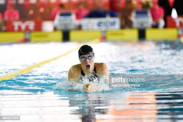 Katinka Hosszu of Hungary women's 200 m breaststroke during the Meeting of Nice Swimming Golden Tour on February 5 2017 in Nice France