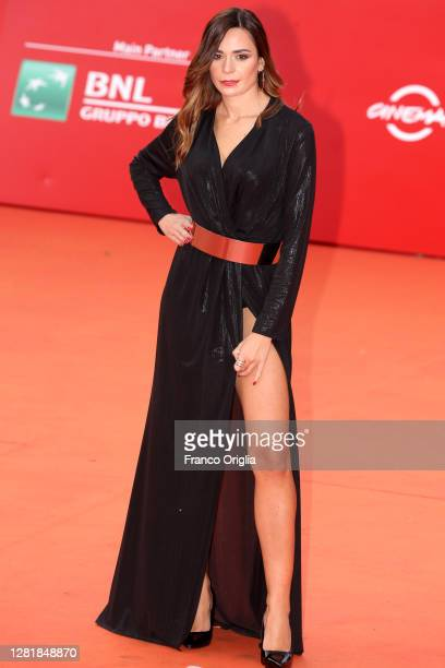 Katiuscia Cavaliere attends the red carpet of the movie Borat during the 15th Rome Film Festival on October 23 2020 in Rome Italy