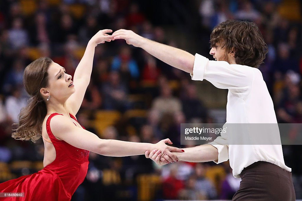 Kativa Lorenz and Panagiotis Polizoakis of Germany skate in Free Dance Program during Day 4 of the ISU World Figure Skating Championships 2016 at TD Garden on March 31, 2016 in Boston, Massachusetts.