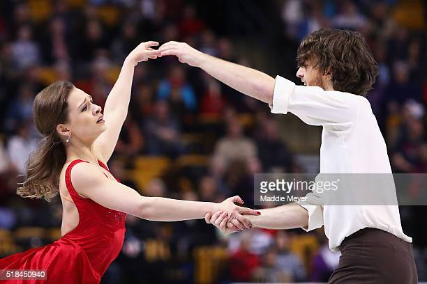 Kativa Lorenz and Panagiotis Polizoakis of Germany skate in Free Dance Program during Day 4 of the ISU World Figure Skating Championships 2016 at TD...