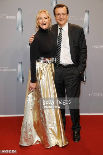 Katja Burkard and Hans Mahr attend the German Television Award at Palladium on January 26 2018 in Cologne Germany