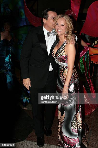 Katja Burkard and Hans Mahr attend the UNESCO Benefit Gala for Children 2008 at Hotel Maritim on November 1 2008 in Cologne Germany