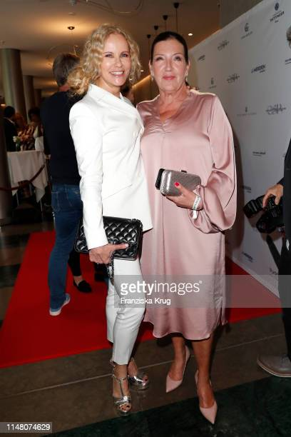 Katja Burkard and Katy Karrenbauer during the Society Relations Ladies Lunch at Le Meridien on June 4 2019 in Hamburg Germany