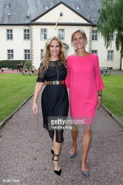 Katja Burkard and Rosalie von Landsberg-Velen attend the Balve Optimum 2018 Gala on June 8, 2018 in Balve, Germany.