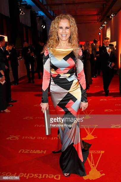 Katja Burkard attends the Goldene Kamera 2014 at Tempelhof Airport on February 01 2014 in Berlin Germany