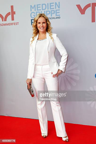 Katja Burkard attends the VPRT Hosts Summer Party at Cafe Moskau on September 09 2014 in Berlin Germany