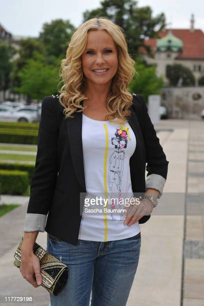 Katja Burkard attends the Women's World Cup Night as part of the Digital Life Design women conference at Bavarian National Museum on June 30 2011 in...