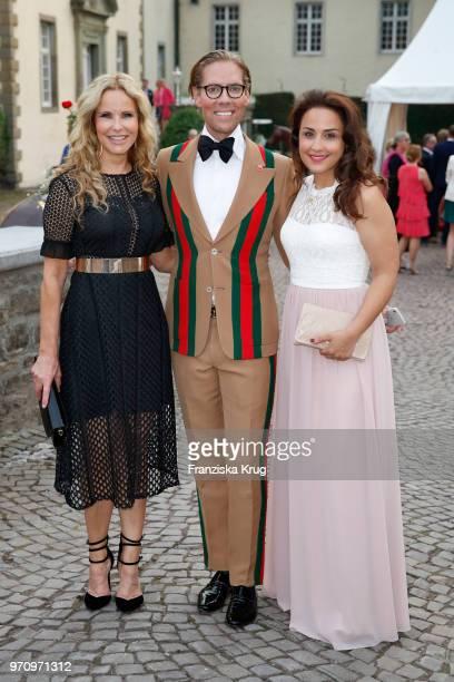 Katja Burkard, Jens Hilbert and Nina Moghaddam attend the Balve Optimum 2018 Gala on June 8, 2018 in Balve, Germany.
