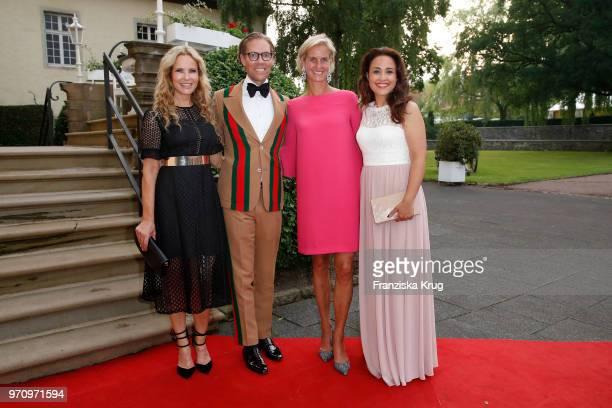 Katja Burkard, Jens Hilbert, Rosalie von Landsberg-Velen and Nina Moghaddam attend the Balve Optimum 2018 Gala on June 8, 2018 in Balve, Germany.