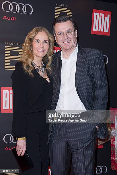 Katja burkhard and Hans Mahr attend the BILD 'Place to B' Party at Grill Royal on February 8 2014 in Berlin Germany